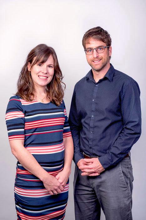 Photo de Marie-Pier Gendron et Stéphane Fortin, audioprothésistes et copropriétaires d'Aures Solution Auditive